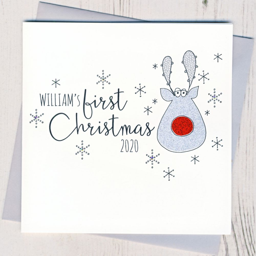 Personalised Baby's First Christmas Cards