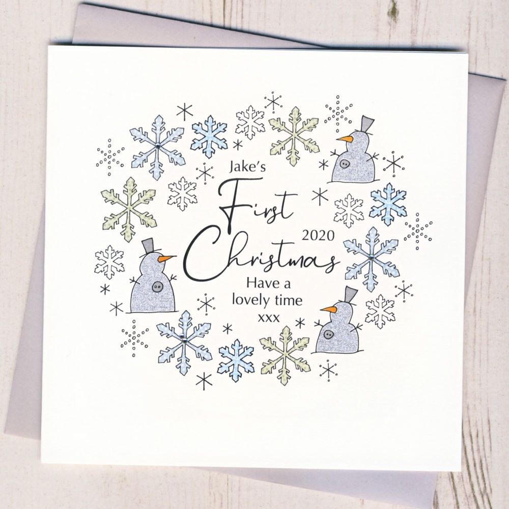 <!-- 001-->Baby's First Christmas Card