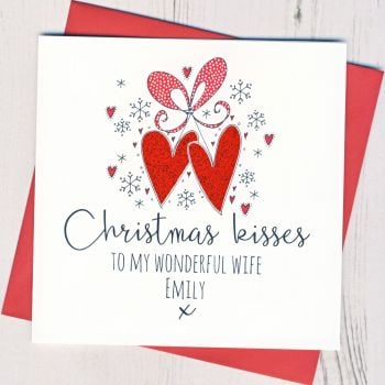Personalised  Christmas Kisses Card
