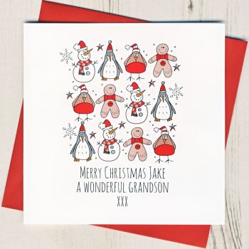 Personalised Merry Christmas Characters