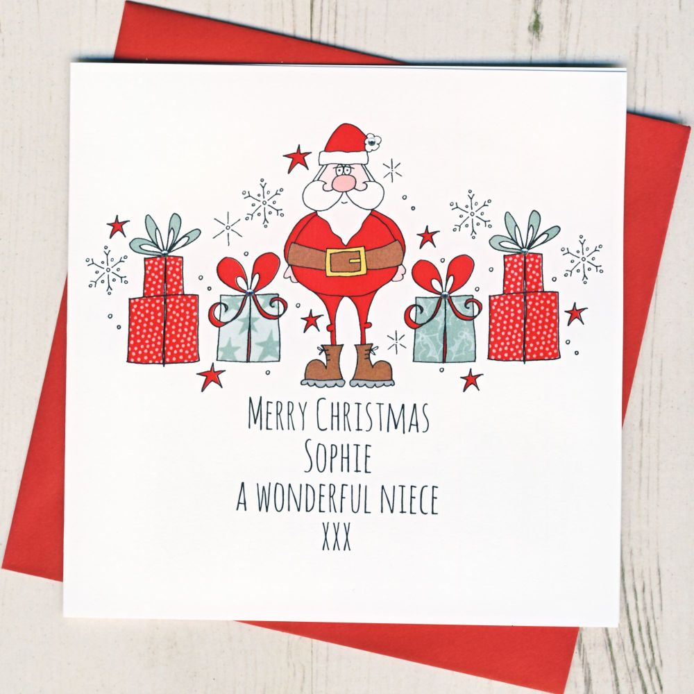 <!-- 002--> Personalised Merry Christmas Santa