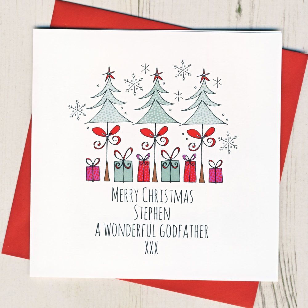 <!-- 002--> Personalised Merry Christmas Trees