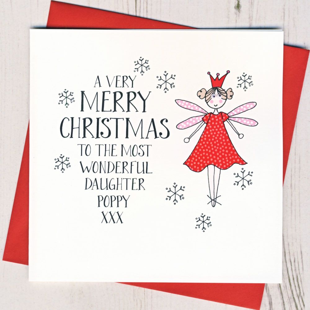 <!-- 004--> Personalised Wobbly Eyes Fairy Card