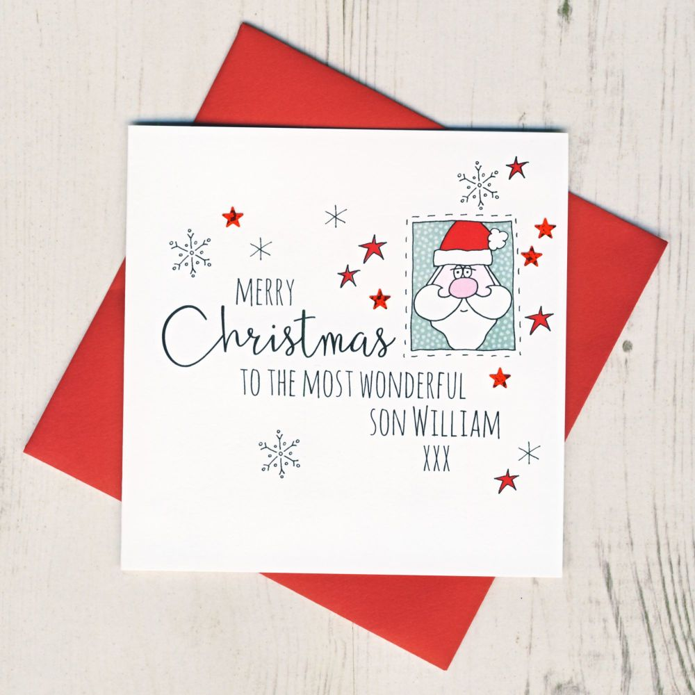 <!-- 003-->Personalised Santa Christmas Card