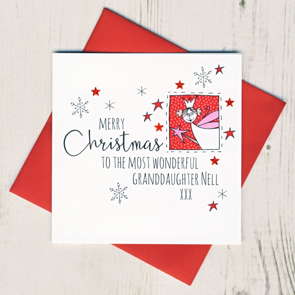 <!-- 003-->Personalised Fairy Christmas Card