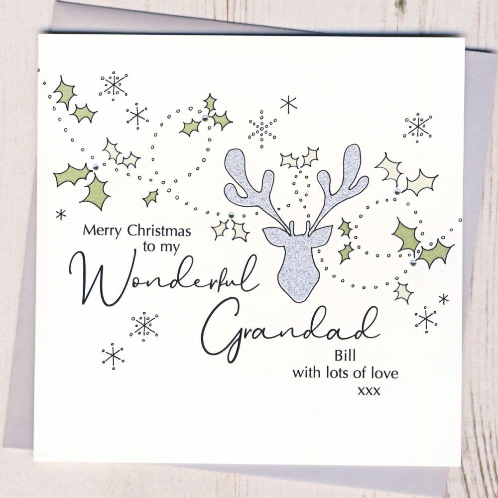 <!-- 001-->Personalised Christmas Wreath Card