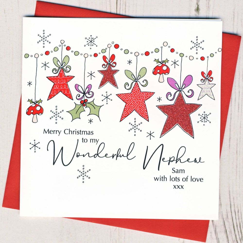 <!-- 001-->Personalised Christmas Wreath Card