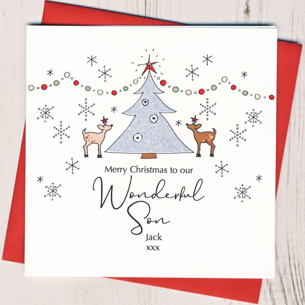 <!-- 001-->Personalised Christmas Tree Card