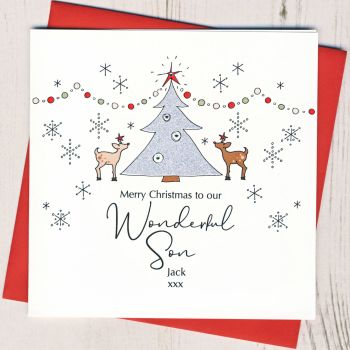 Personalised Christmas Tree Card