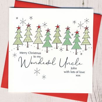 Personalised Christmas Trees Card