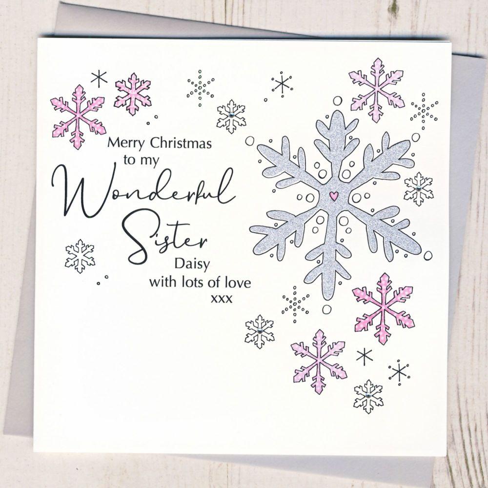<!-- 001-->Personalised Christmas Snowflake Card