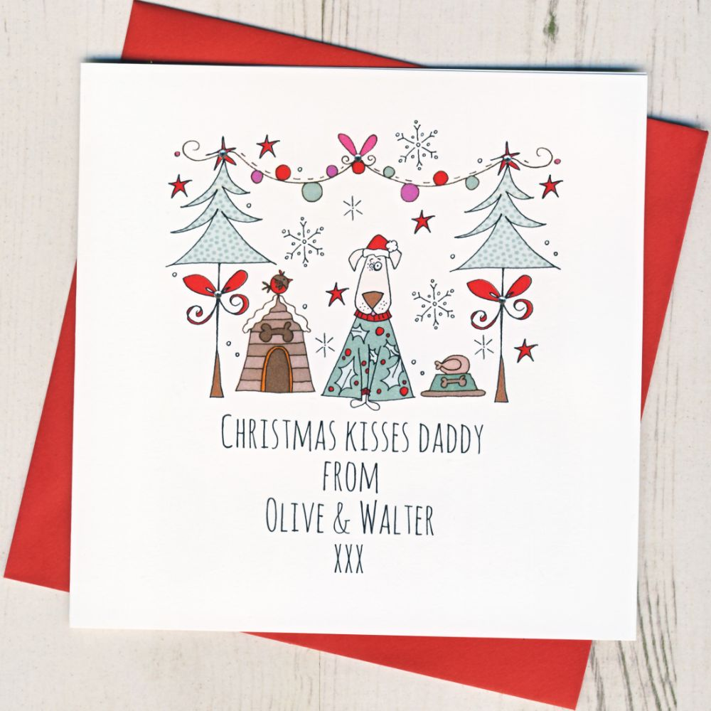 Personalised Christmas Cards From The Dog or Cat