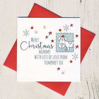Personalised Christmas Card From The Dog or Dogs