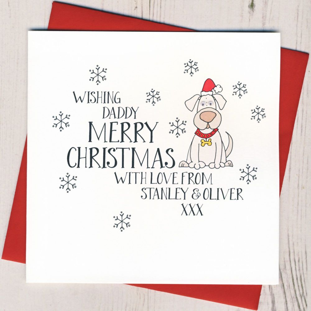 <!-- 001-->Personalised Wobbly Eyes From The Dog Christmas Card