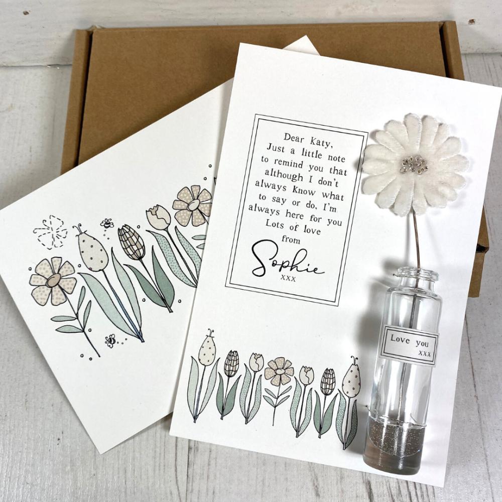 Velvet flower Letterbox Gift