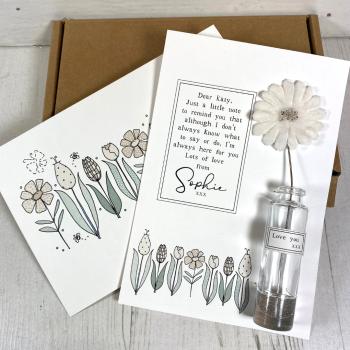 Cream Velvet Flower Gift Box
