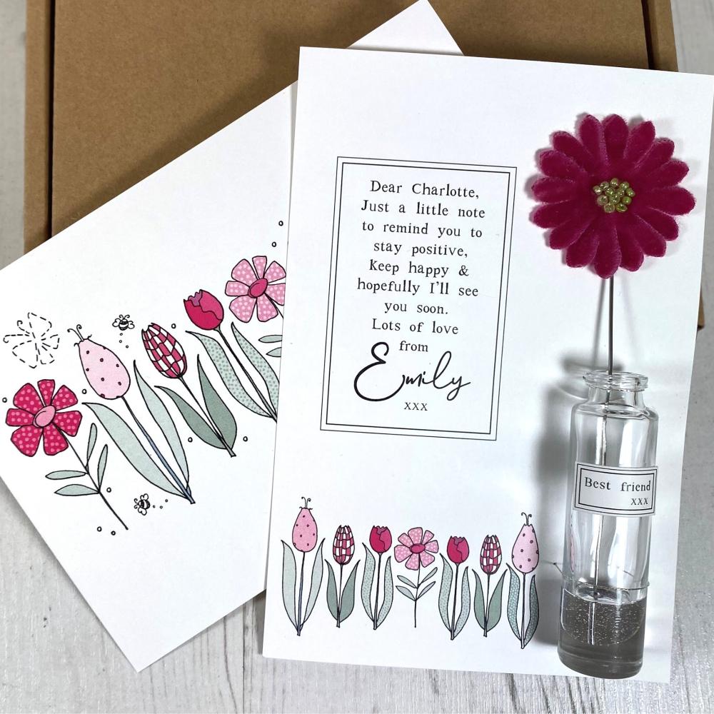 Pink Velvet Flower Gift Box