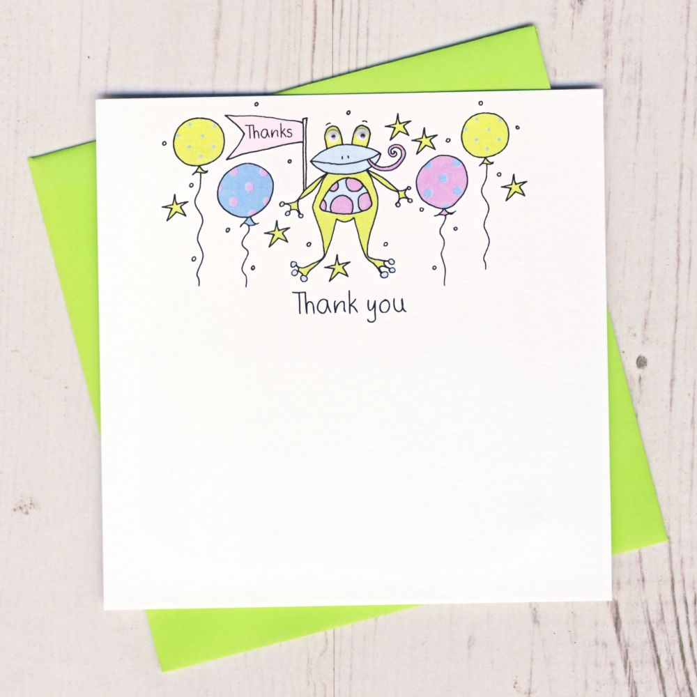 Pack of Frog Thank You Cards
