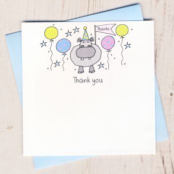 Pack of Hippo Thank You Cards