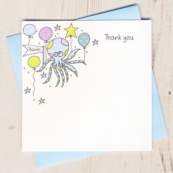 Pack of Octopus Thank You Cards