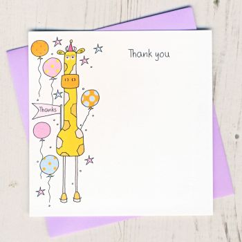 Pack of Giraffe Thank You Cards