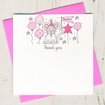 Pack of Mouse Thank You Cards