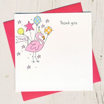 Pack of Flamingo Thank You Cards
