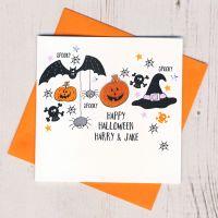 <!-- 001 -->Personalised Spooky Halloween Card