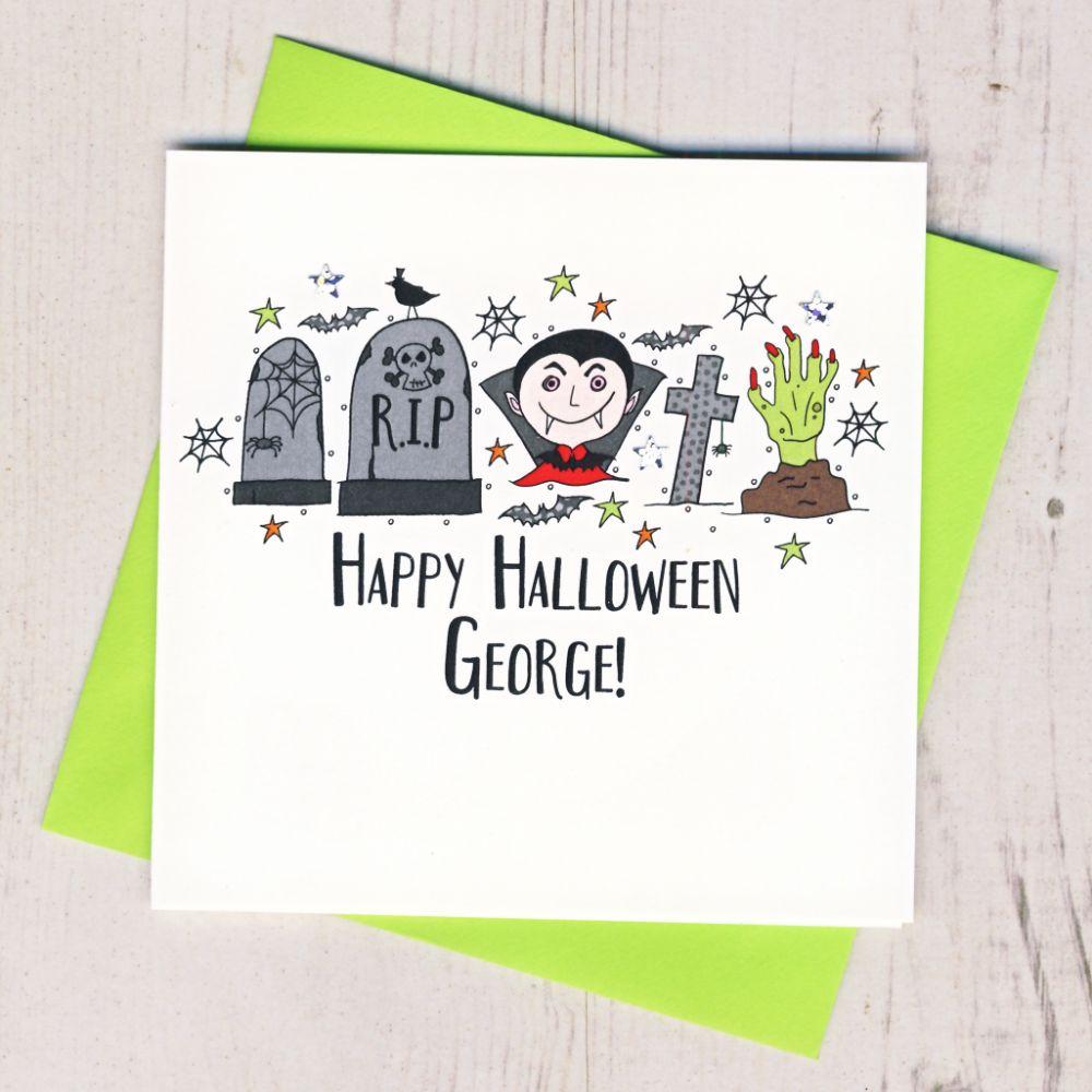 Personalised Halloween Cards