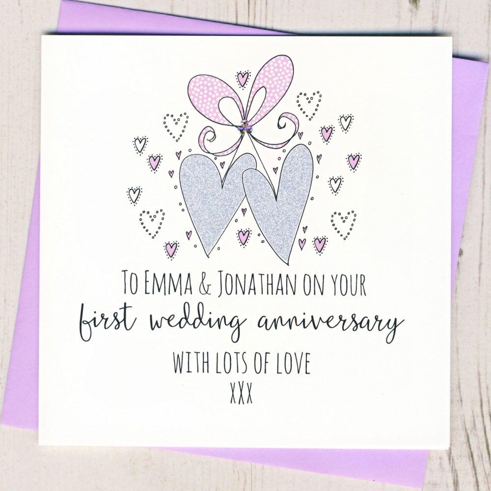 Personalised 1st Wedding Anniversary