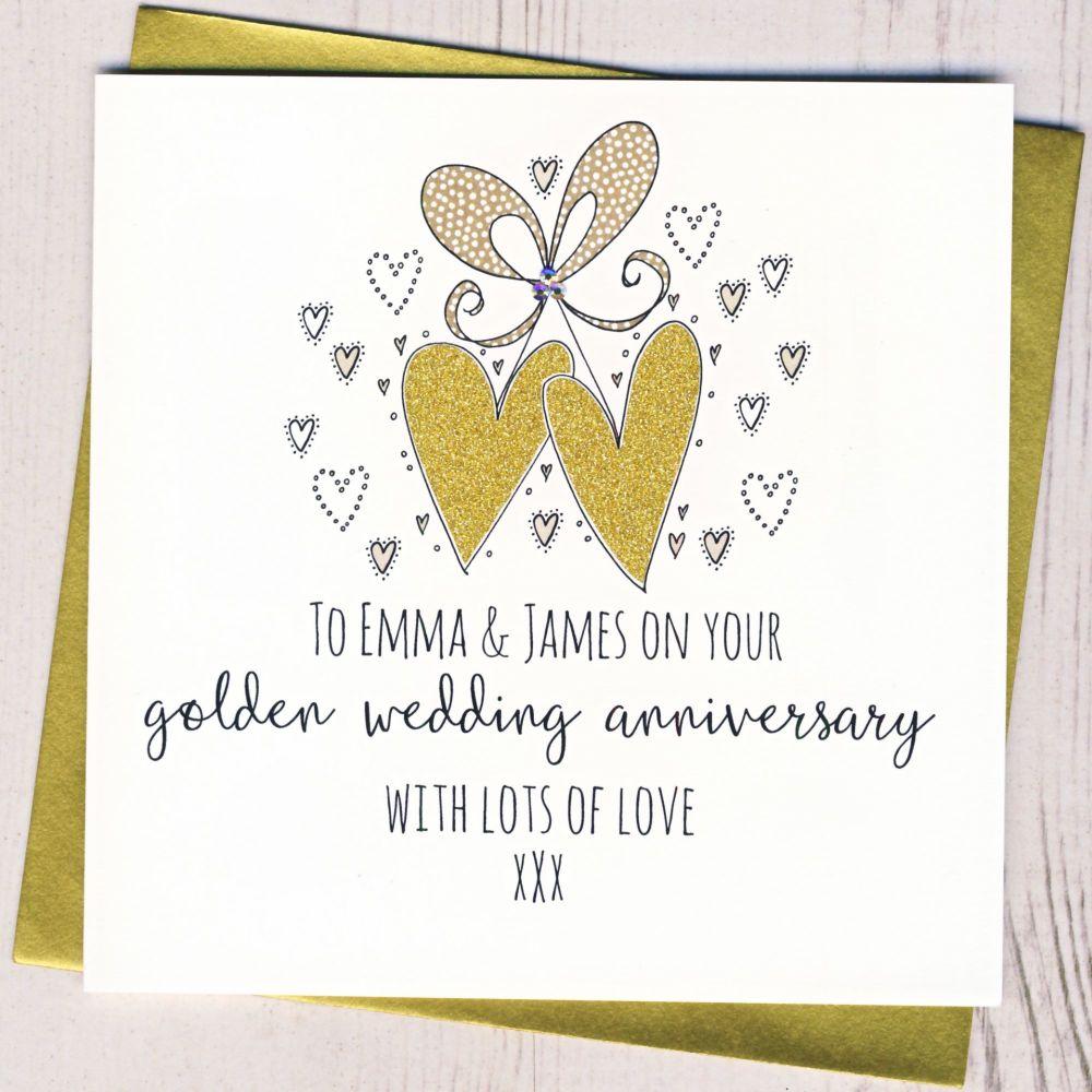 <!-- 006 --> Personalised Golden Wedding Anniversary