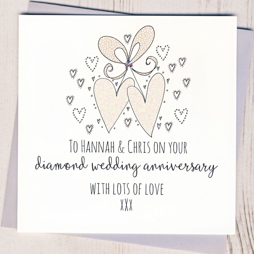<!-- 007 --> Personalised Diamond Wedding Anniversary