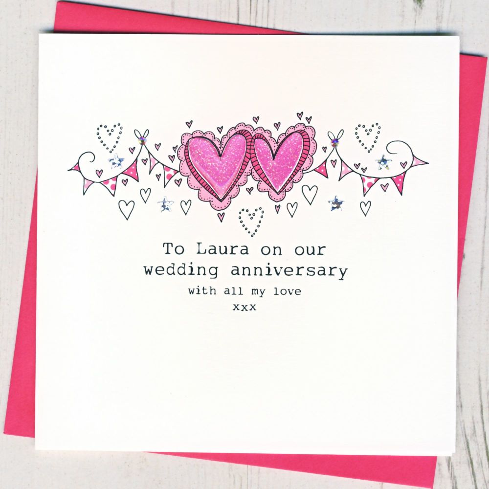<!-- 001 --> Personalised On Our Anniversary Card