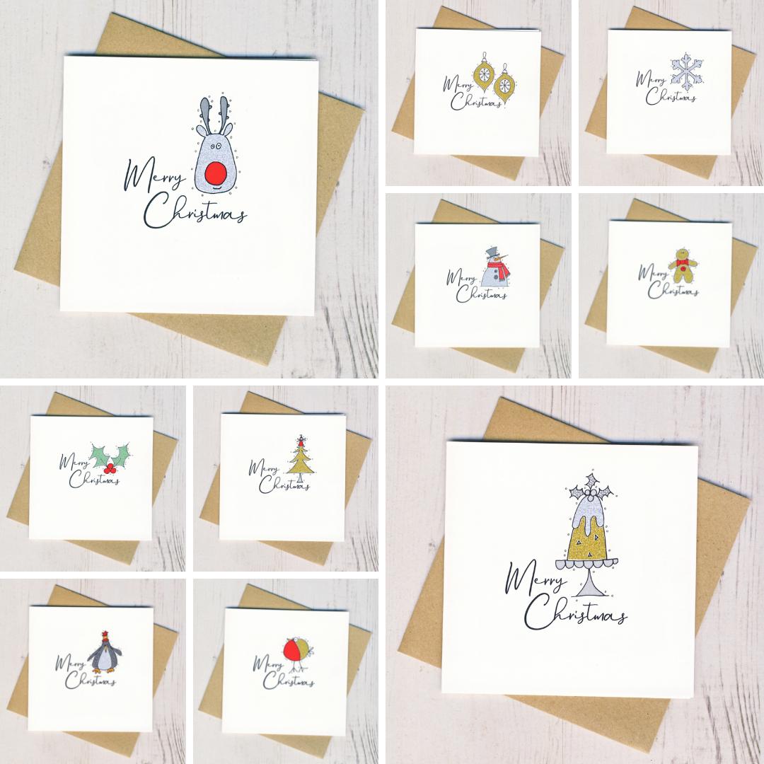Ten Glittery Handmade Christmas Cards