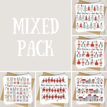 Mixed Pack of Five Christmas Cards