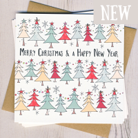 <!-- 002 -->Pack of Five Christmas Tree Cards