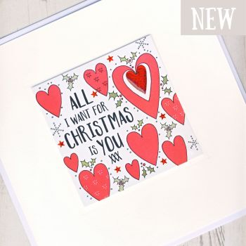 Large All I Want For Christmas Is You Card