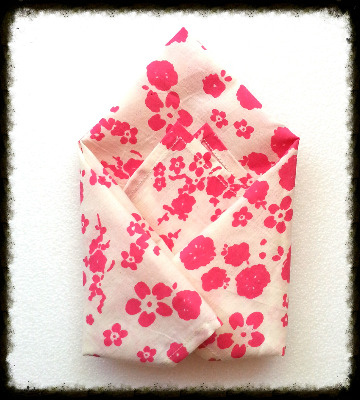 Pink floral hanky