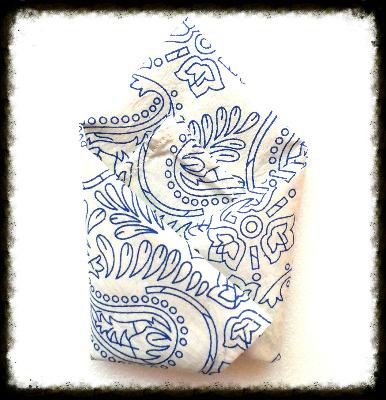 Blue Scent Handkerchief
