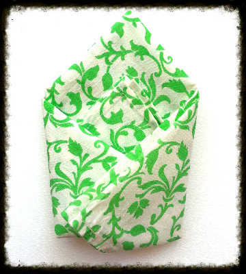 Leafy green handkerchief
