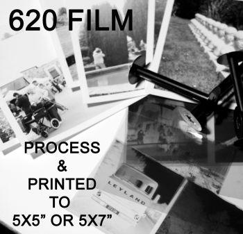 "620 MEDIUM FORMAT FILM TO 5x5"" or 7x5"""
