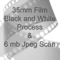 35mm BLACK & WHITE FILM PROCESS AND 6 mb JPEG FILM SCAN