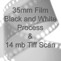35mm BLACK & WHITE FILM PROCESS AND 14.0mb TIFF FILM SCAN