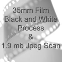 35mm BLACK & WHITE FILM PROCESS AND 1.9mb JPEG FILM SCAN