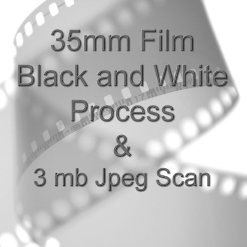 35mm BLACK & WHITE FILM PROCESS AND 3.1mb JPEG FILM SCAN