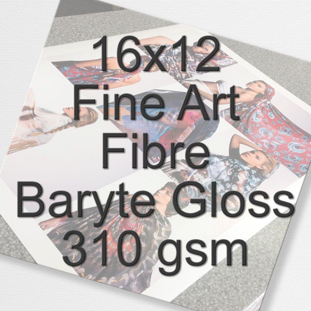 16x12 Fine Art Fibre Baryte Gloss 310 gsm