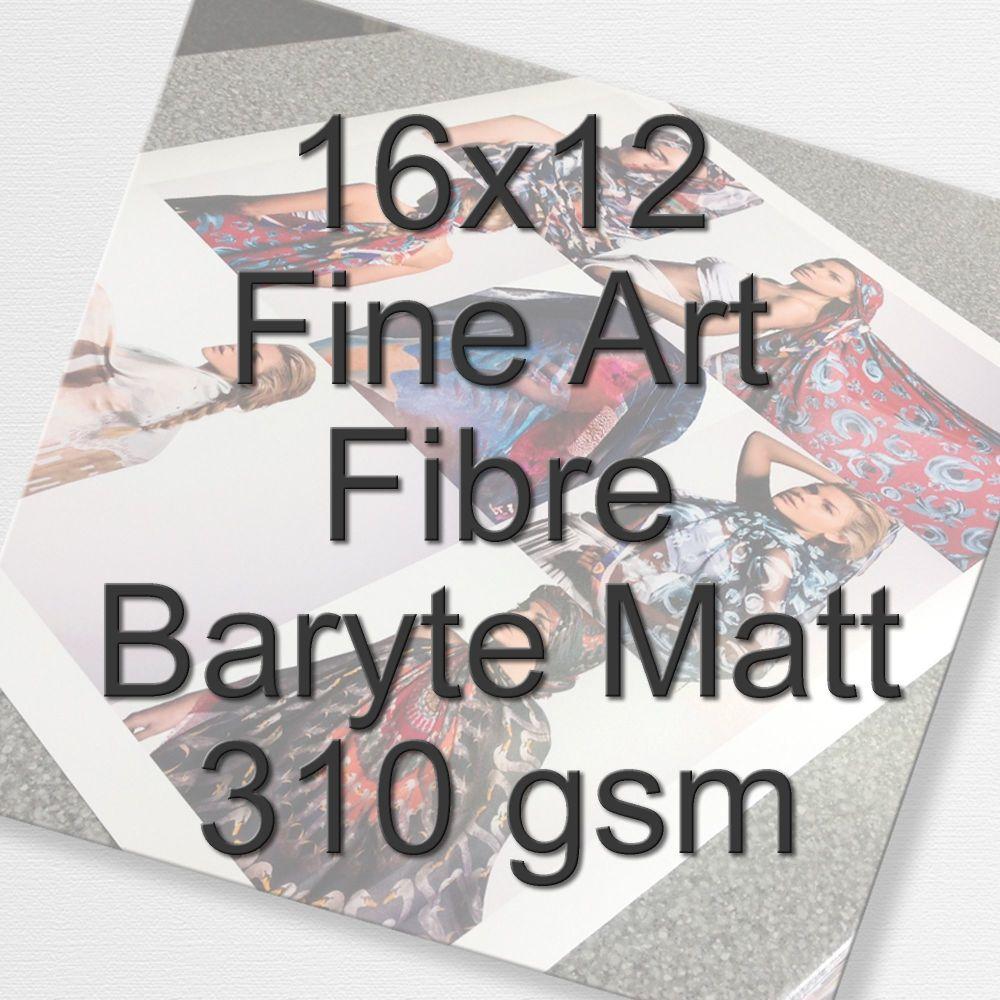 16x12 Fine Art Fibre Baryte Matt 310 gsm