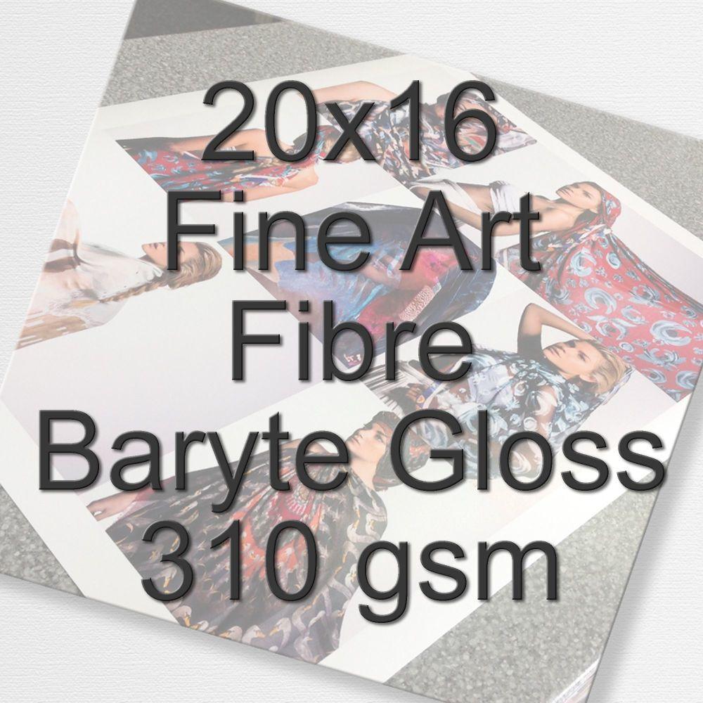 20x16 Fine Art Fibre Baryte Gloss 310 gsm