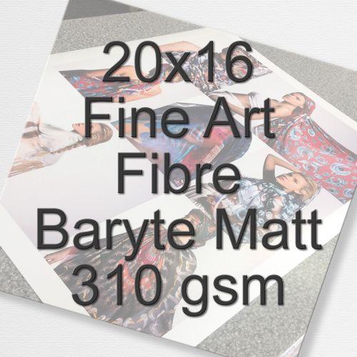 20x16 Fine Art Fibre Baryte Matt 310 gsm