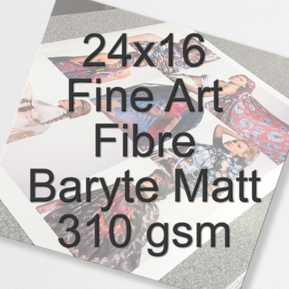 24x16 Fine Art Fibre Baryte Matt 310 gsm